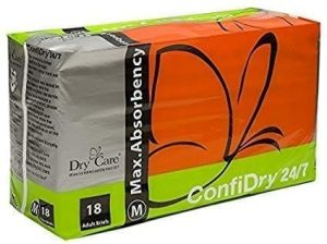 ConfiDry 24/7 Dry Care Max Absorbency Adult Brief Diapers
