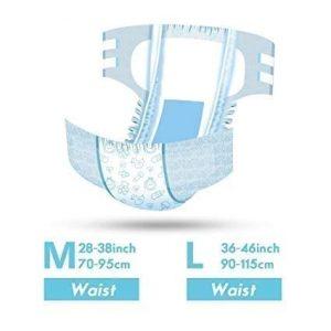 LittleForBig Printed Adult Brief Diapers (Large)