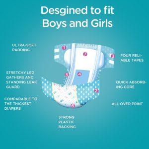 LittleForBig Printed Adult Brief Diapers (Medium)
