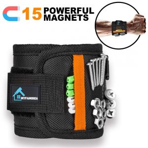 Magnetic Wristband for 15 Super Strong Magnets