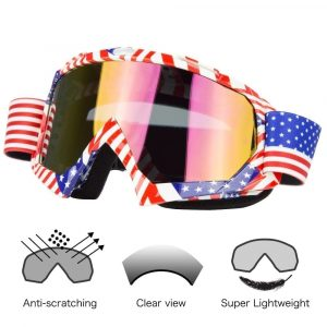 Motorcycle Goggles Dirt Bike ATV Motocross Goggles Glasses Eyewear for Men Women Youth Kids