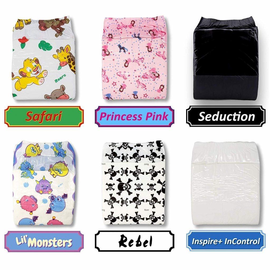 Rearz - Adult Diaper Sampler - Variety Box