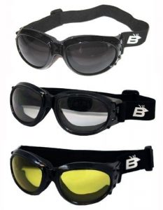 Three (3) Pairs Birdz Eagle Padded Motorcycle Goggles Airsoft Googles