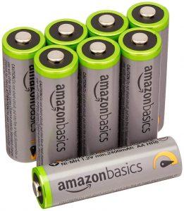 AmazonBasics AA High-Capacity Rechargeable Batteries
