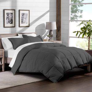Bare Home Ultra-Soft Premium 1800 Series Goose Down Alternative Comforter Set