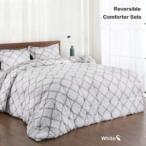 Basic Beyond Reversible Comforter Sets - 2 Piece Silky Soft Goose Down Alternative Comforter Set