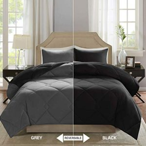 Comfort Spaces – Vixie Reversible Goose Down Alternative Comforter Mini Set