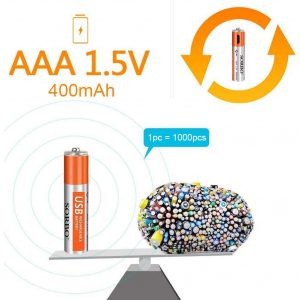HITRENDS Rechargeable Triple Lithium Batteries