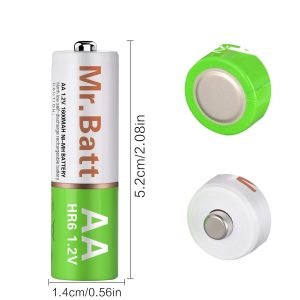 Mr.Batt AA Rechargeable Batteries