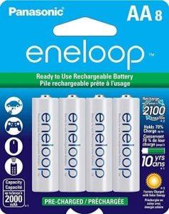 Panasonic BK-3MCCA8BA Eneloop AA Rechargeable Batteries