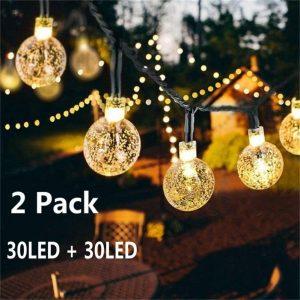 SOCO Solar Globe String Lights
