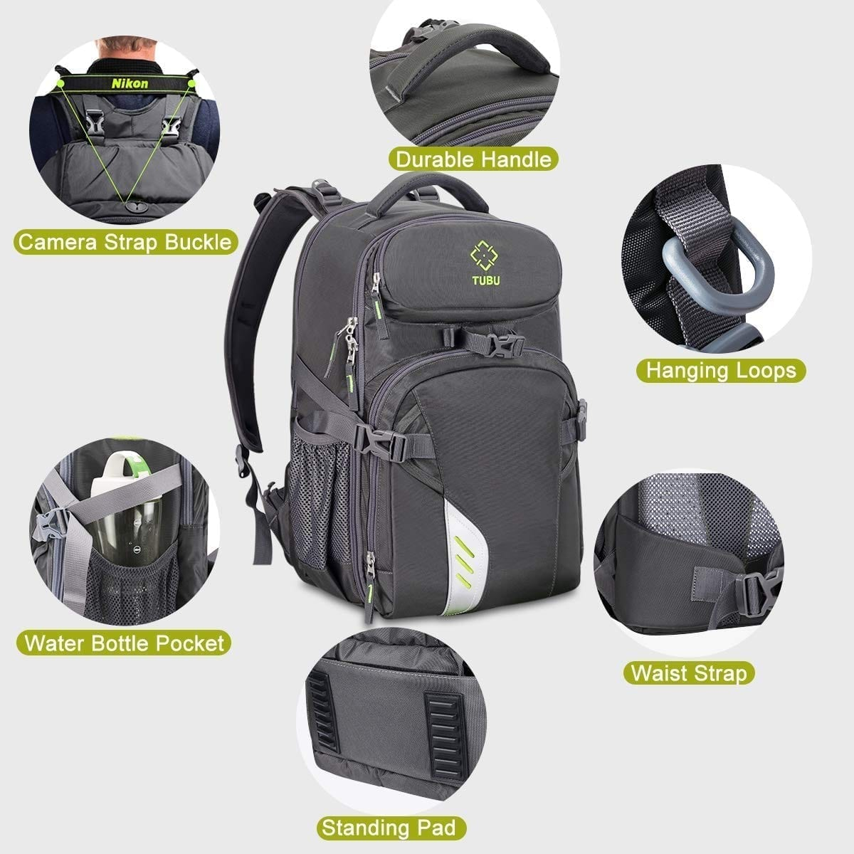TUBU Video Camera Backpack Fit