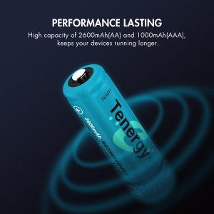 Tenergy High Drain AA and AAA Batteries