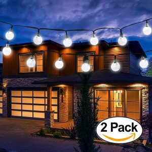 Vivii Solar Crystal Ball Waterproof String Lights