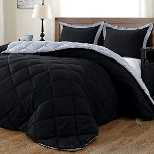 downluxe Lightweight Solid Comforter Set (Twin) with 2 Pillow Shams