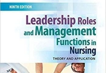 Effective Leadership and Management in Nursing Books