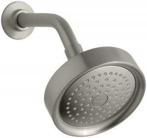 KOHLER K-965-BN Taboret Single-Function Showerhead, Vibrant Brushed Nickel