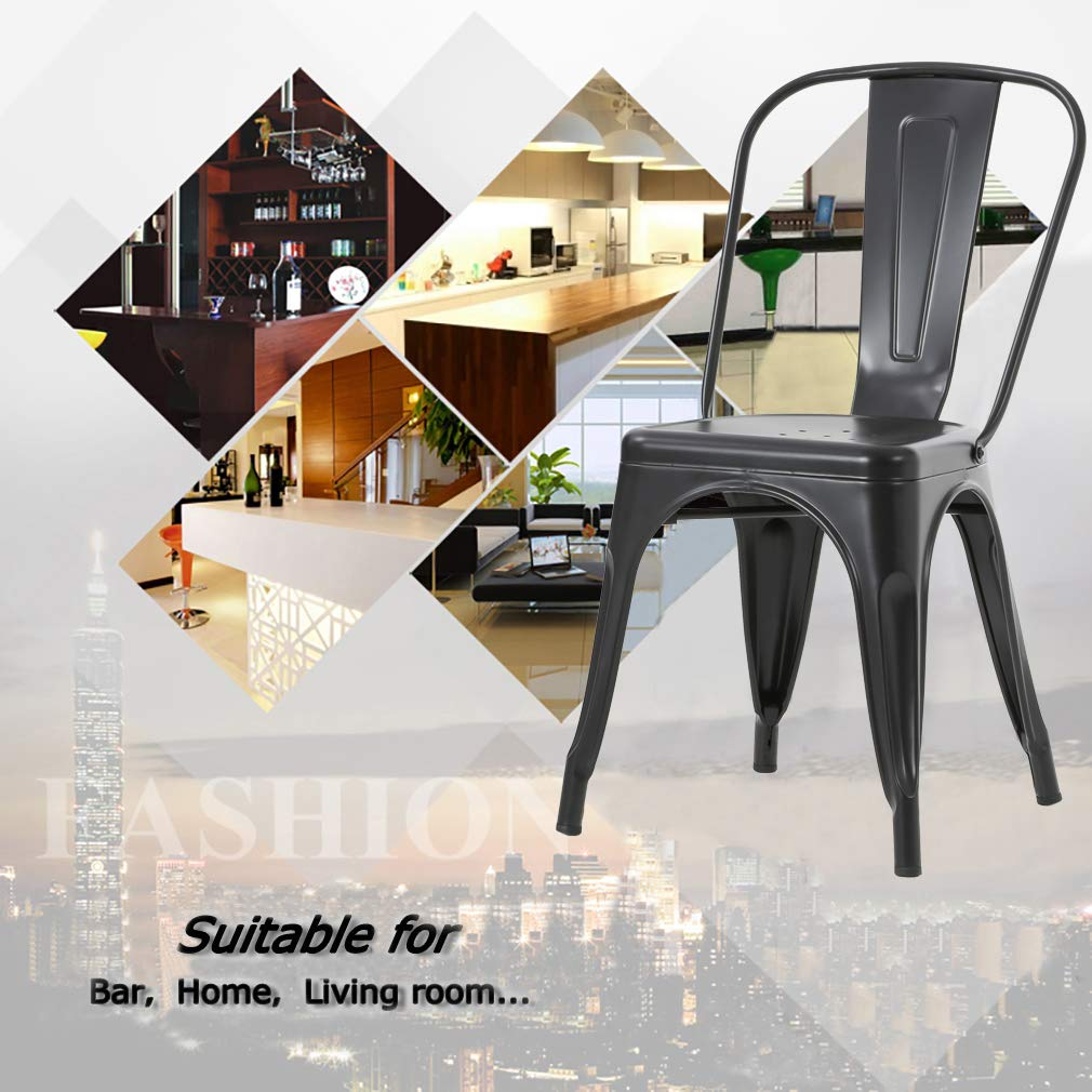 Fantastic The Best Metal Dining Chairs Which Suit Your Dining Room The Bralicious Painted Fabric Chair Ideas Braliciousco