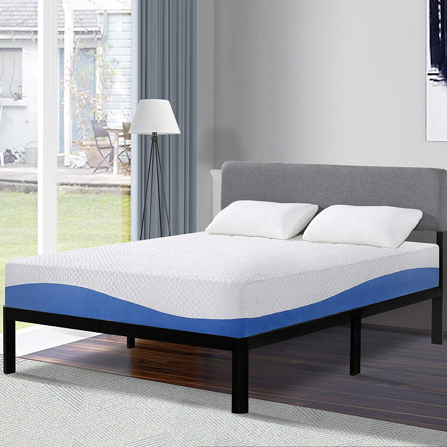 Olee Sleep Cool I Gel Infused Mattress Blue [10 inches]