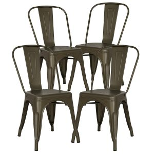 POLY & BARK Bronze Kitchen/Dining Chair (Set of 4)