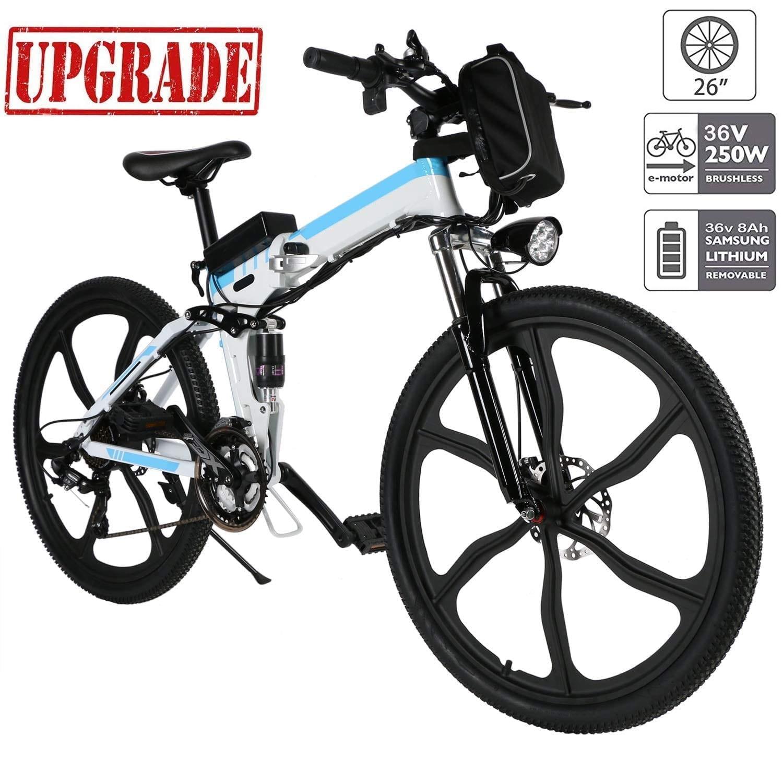 Aceshin 26-inch Electric Mountain-Bike [2 Working Modes &21-Speed Gear]