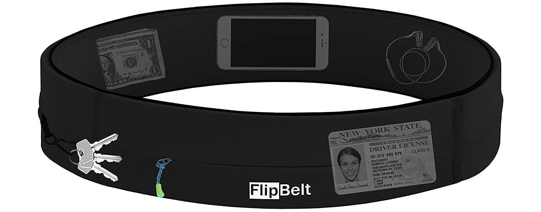 FlipBelt Zipper Edition - Patented Running Belt With An Extra Secure Zipper Pocket