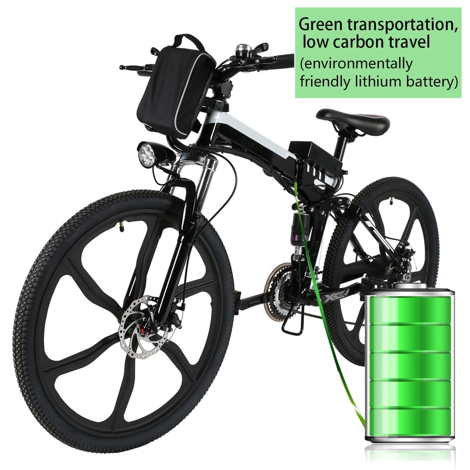 Kemanner 26-inch Electric Mountain-Bike for Adults [21 Speed]