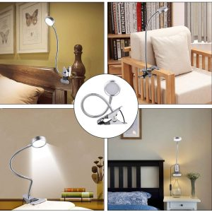 Eyocean LED Reading Light, Dimmable Clamp Light for Bed Headboard