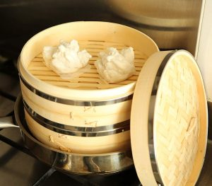 Harcas 10-inch 2-tier Bamboo Steamer with Lid