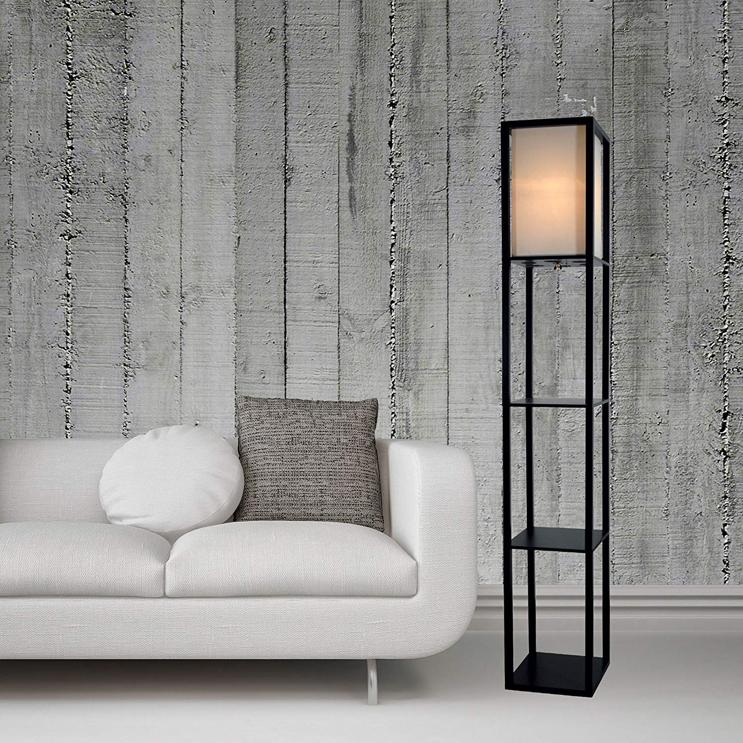 Light Accents Shelf Floor Lamp
