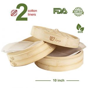 Picksur LifeStyle Handmade Bamboo Steamer 10 inch 2 tier
