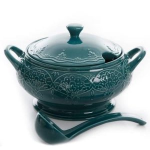 The Pioneer Woman soup tureen with ladle