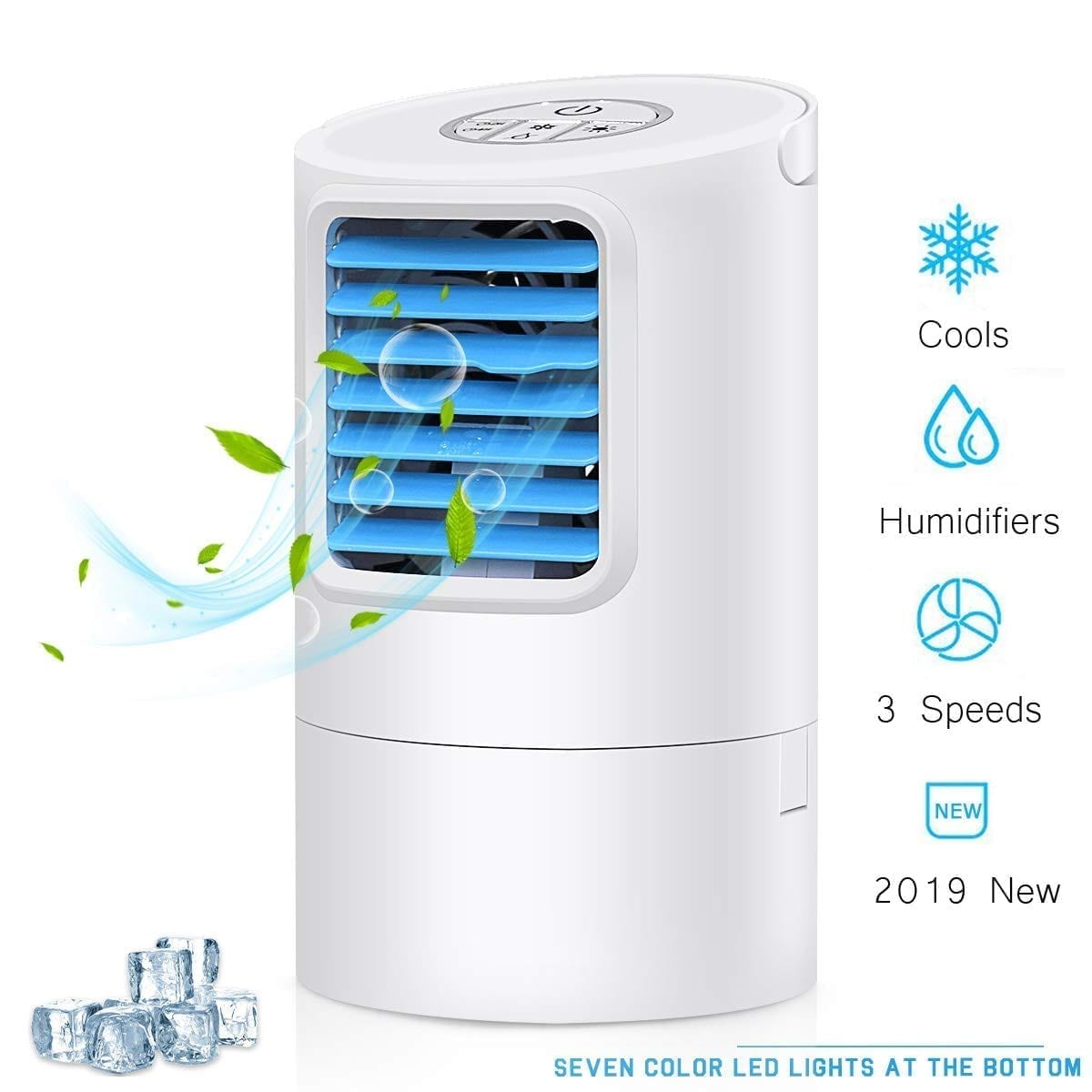 GREATSSLY Portable Air Cooler Ice Fan