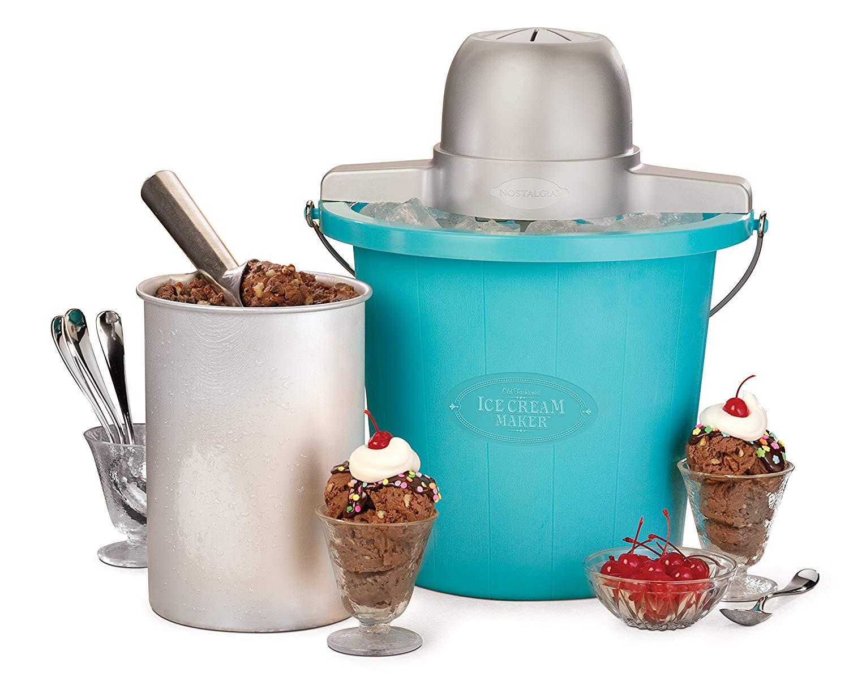 Nostalgia ICMP400BLUE Electric Ice Cream Maker