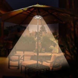 OYOCO Warm White Light for patio umbrellas