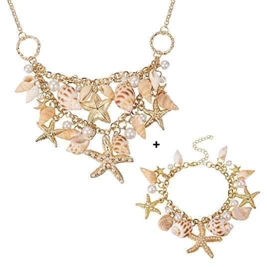 PH Pandahall Starfish Shell Necklace for Women