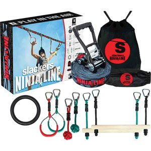 Slackers Ninjaline 36' Intro Kit with 7 Hanging Obstacles