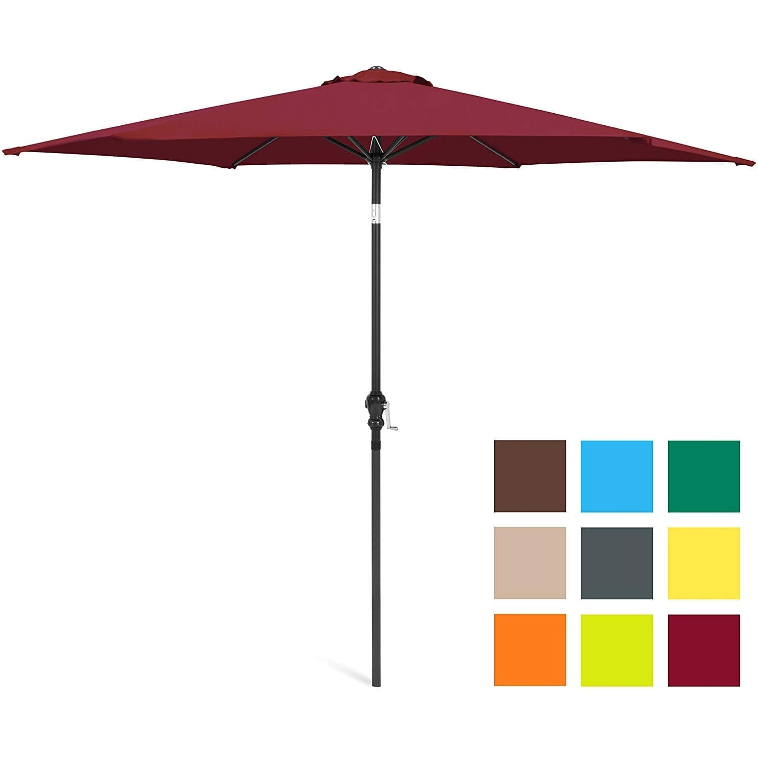 Best Choice Products Large Patio Umbrella Table Compatible