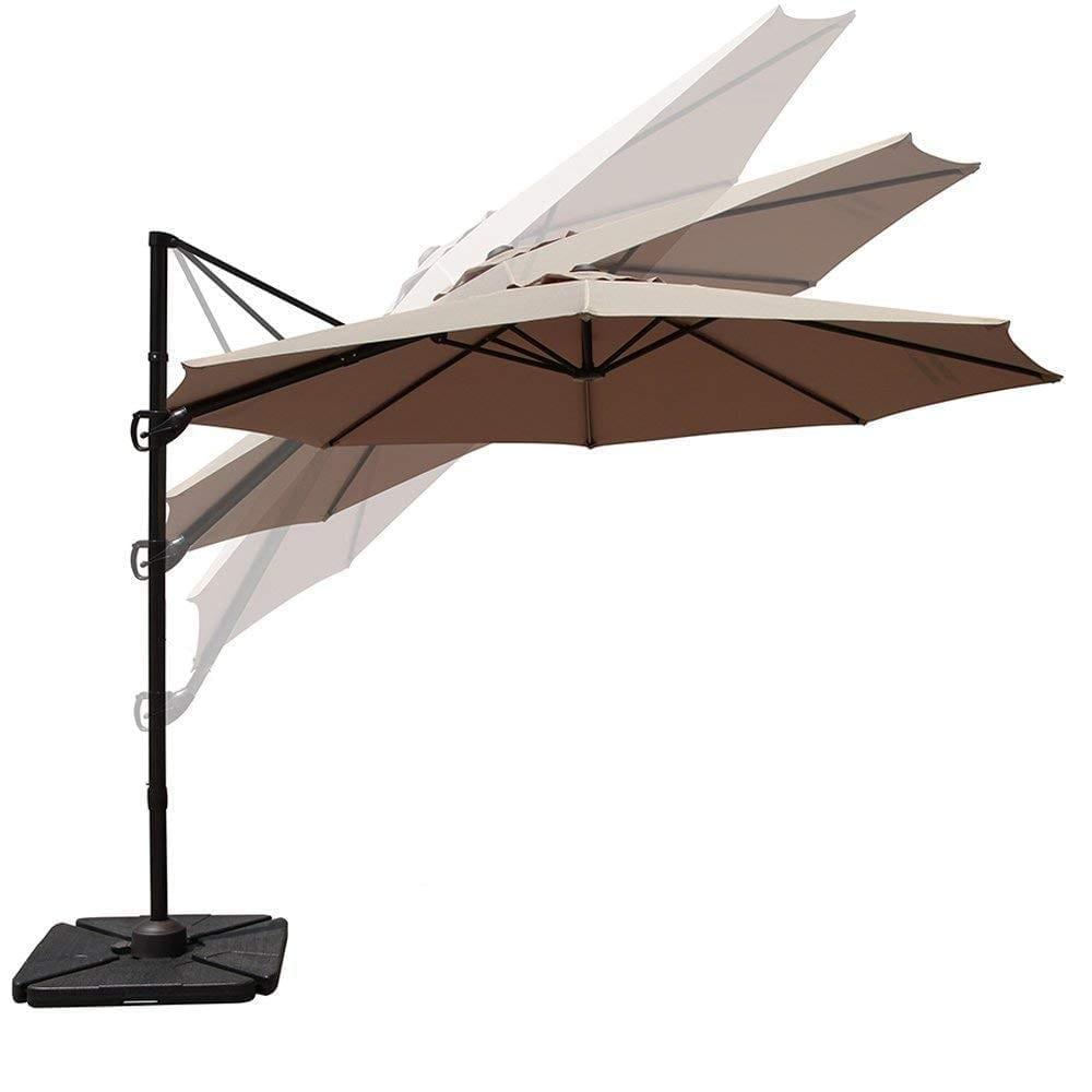 COBANA Large Patio Umbrella Hanging And Offset
