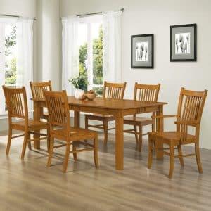 Coaster Home Furnishings 7-Piece Hardwood Dining Table