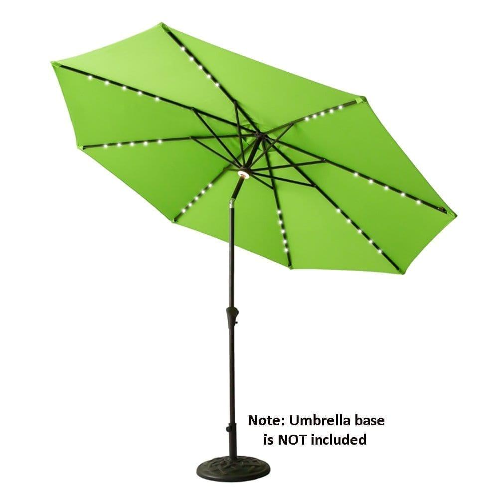 FLAME&SHADE Large Patio Umbrella with LED