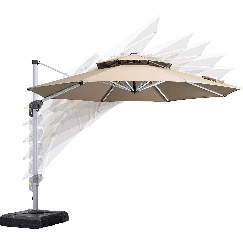 PURPLE LEAF Large Patio Umbrella Hanging Umbrella
