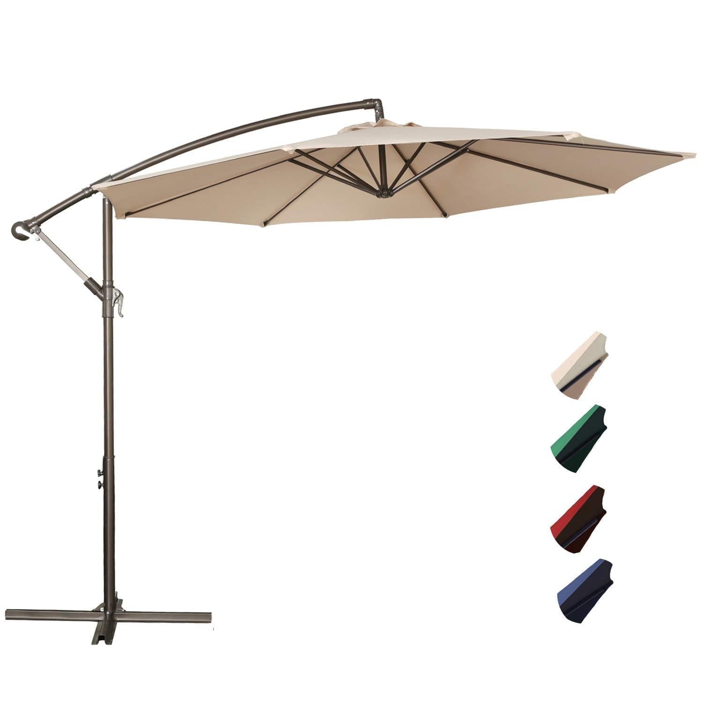 RUBEDER Large Patio Umbrella Hanging