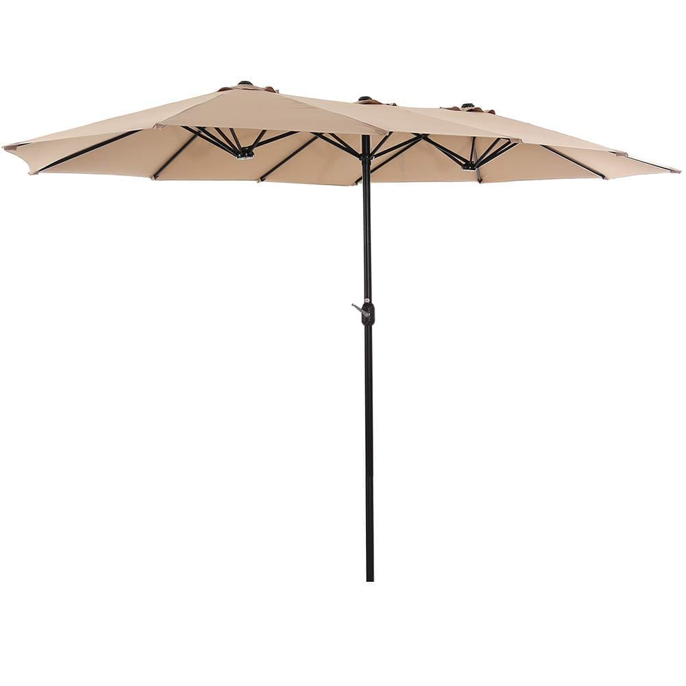 SUPERJARE Large Patio Umbrella With Design On Double Side