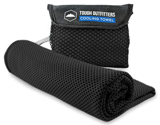 Tough Outdoors Cooling Towel - Cool Neck Wrap for Instant Relief