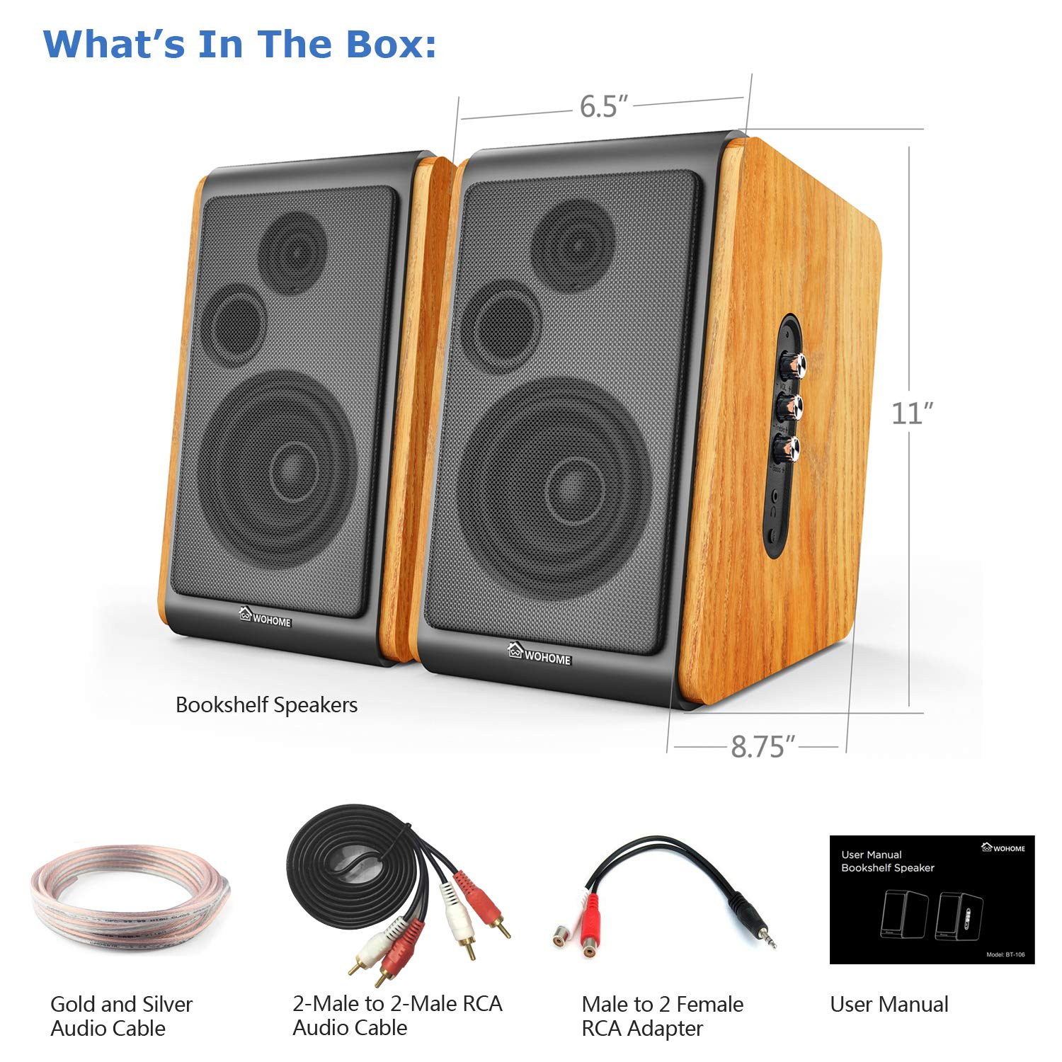 Wohome Bookshelf Speakers