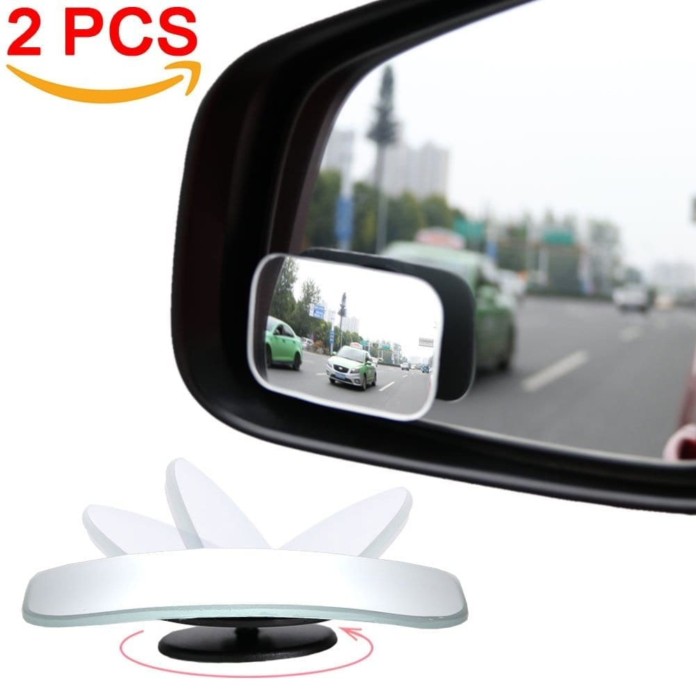 AmFor HD Glass Convex Lens Frameless Adjustable Blind Spot
