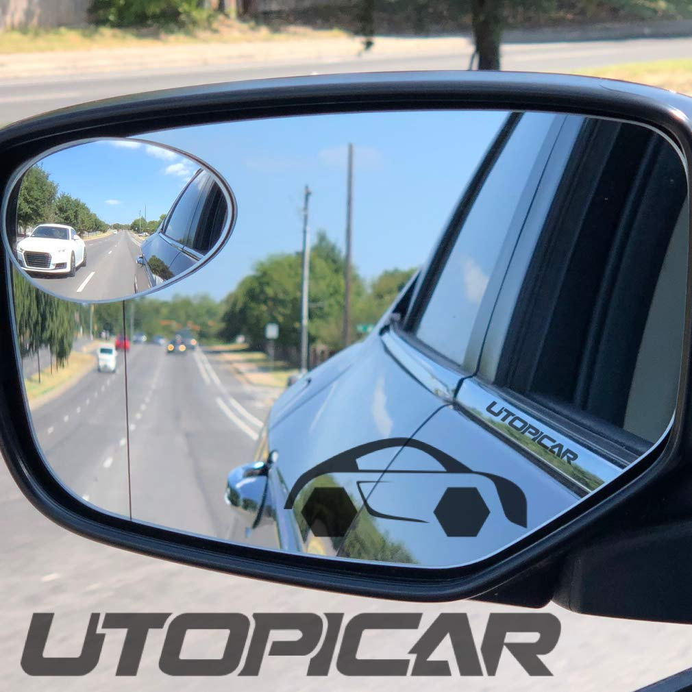SUV Van Large Vehicle Ampper 2 Pack 3 Blind Spot Mirrors for Trucks Aluminum Frame Glass Convex Rear View Blind Spot Mirrors