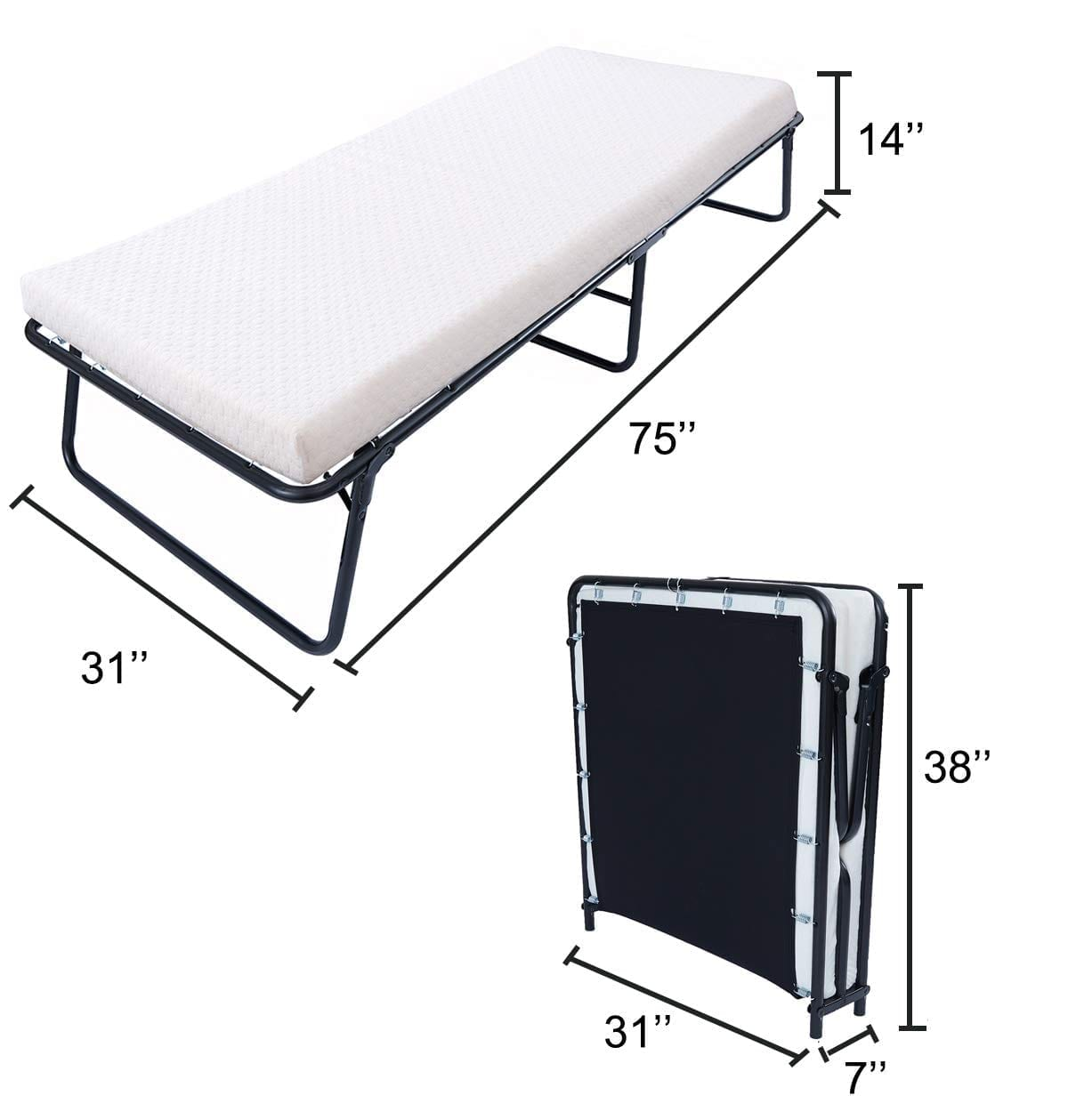 Foldable Guest Bed By LEISUIT