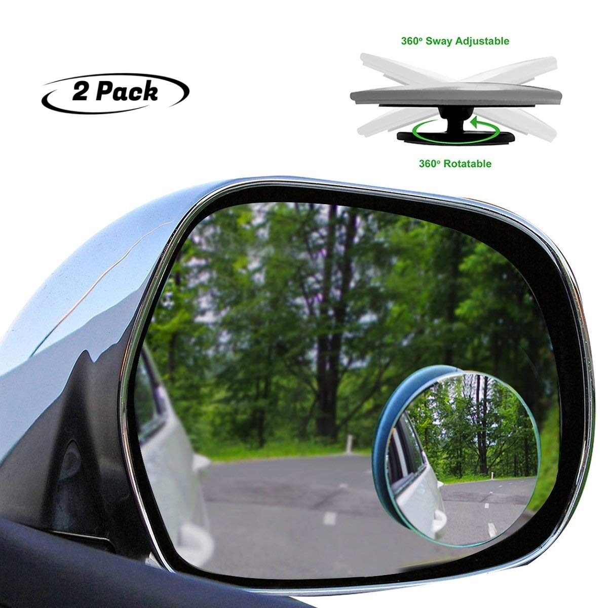 Beech Lane Blindspot Mirror Two-Pack For 2009-18 Dodge Ram Trucks Authentic 3M Adhesive Custom Fit For Ram Non Towing Mirrors,Chrome Glass Prevents Glare and Blemishes